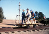 Handcar rides at museum begin, 11/1989. acc2005.001.1223