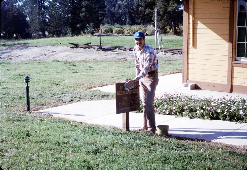 Volunteer David Hackleman, 2/21/1987. acc2005.001.0700