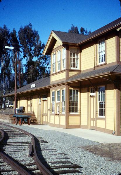 Goleta Depot front exterior, 12/1988. acc2005.001.1035