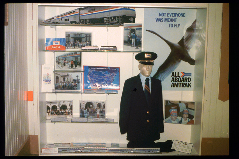 Waiting Room display focuses on Amtrak, Summer 1992. acc2005.001.1779