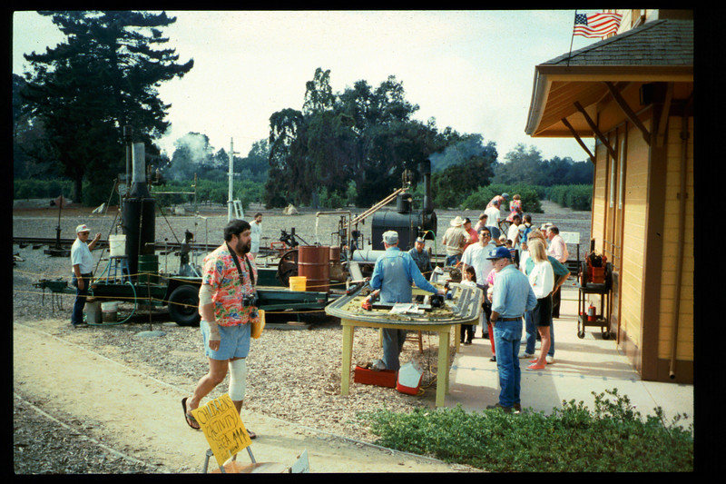 The 10th Annual Depot Day event (Jim Marchiando steam plant, whistles) was held on Sunday, Oct. 10, 1992. acc2005.001.1675
