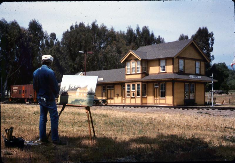 Artist captures Goleta Depot's essence, 5/1987 acc2005.001.0793