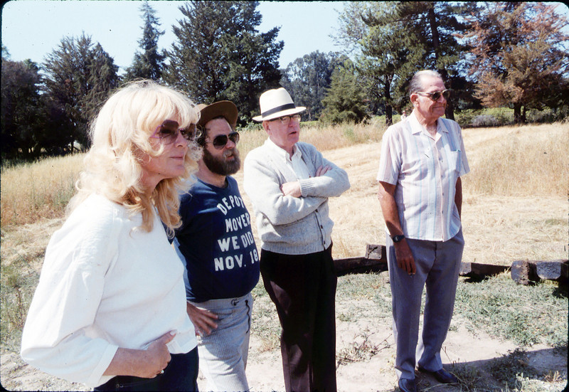 Laying of the standard-gauge track (Phyllis Olsen, Gary Coombs, Steve Sullivan, Capt. Rodman), 5/11/1985 acc2005.001.0504