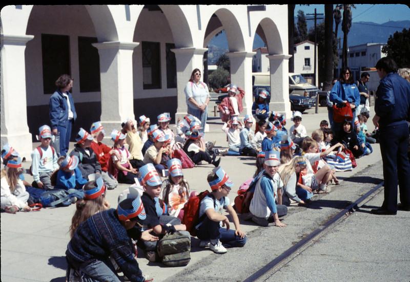 Foothill Elementary School 3rd Grade trip to San Luis Obispo, 3/22/1990. acc2005.001.1286