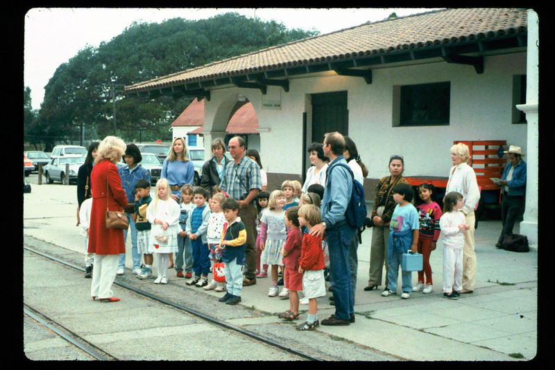 In Spring 1992, the museum led four school rail excursions. See Depot Dispatch, Vol. 12, No. 2 (Summer 1992) for details. 1992. acc2005.001.1635