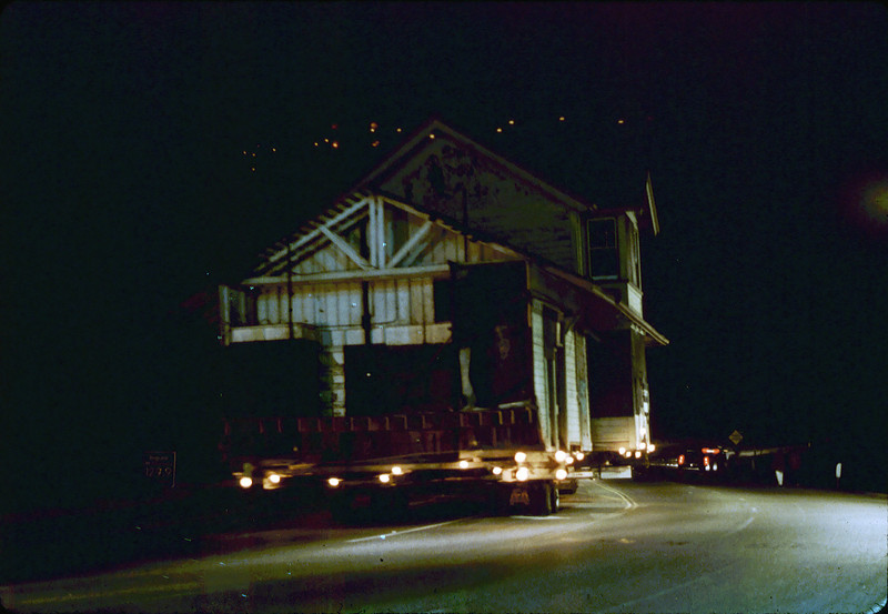 Night move, 11/18-19/1981. Michael Glassow photograph. Climbing Fairview Overpass.. acc2005.001.0091H