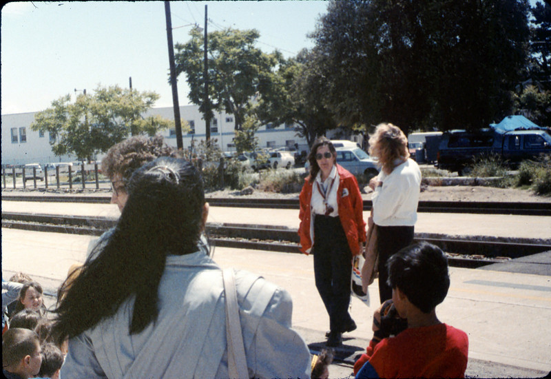 La Patera Elementary School rail trip, 5/6/1988. acc2005.001.0947