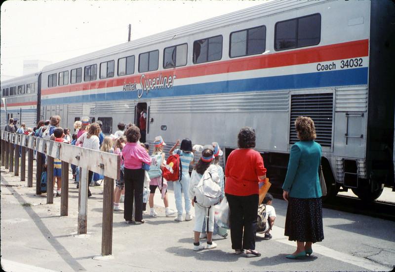 San Luis Obispo school rail trip, 5/3/1989. acc2005.001.1138
