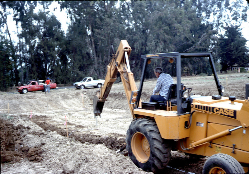 Initial trenching for foundation footings.. acc2005.001.0012
