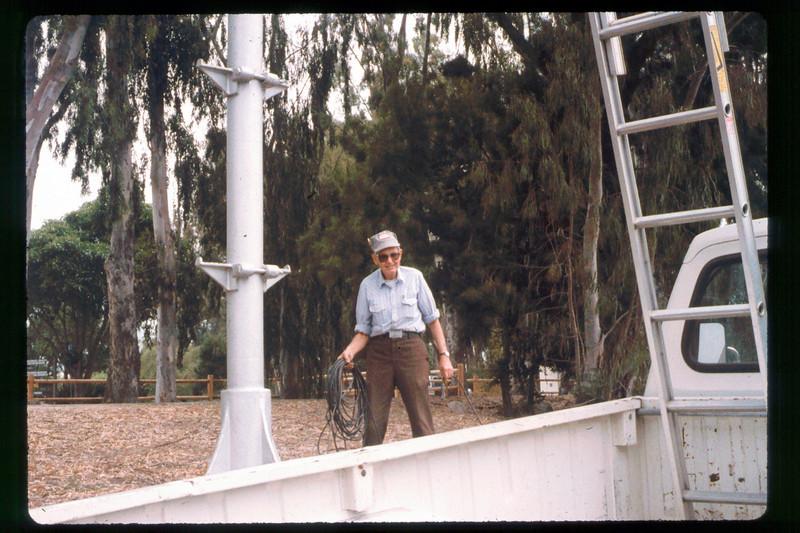 Working on the wig-wag signal (Gene Allen), 1991. acc2005.001.1475