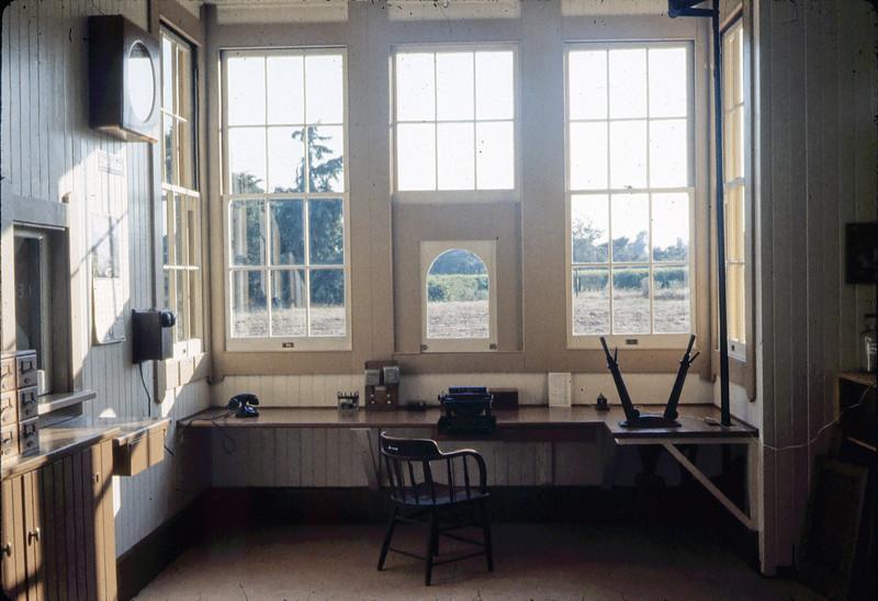 Goleta Depot's Freight Office, 7/1983. acc2005.001.0371