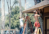 M&M Construction installs new redwood gutters, 5/1988. acc2005.001.0960