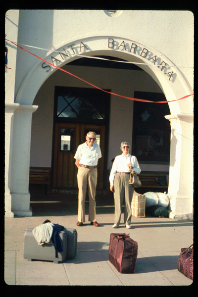Gene and Alma Allen on a personal trip via Amtrak to Washington, D.C., 10/1990. acc2005.001.1439