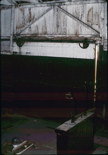 Rare shot of Freight Room interior, Jan. 1982. acc2005.001.0137