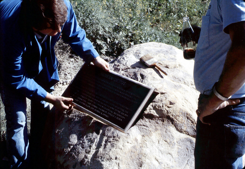Rock is prepared to accept Native Sons plaque, ca. 11/1/1983 acc2005.001.0437