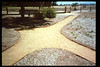 Two new paths, including one that is wheelchair-accessible, were built in 1994 from the sidewalk to the eastern portion of the museum grounds, including the train-ride boarding area. Volunteers who worked on the project were Gene Allen, Al Jaramillo, and Bill Parker. acc2005.001.1937
