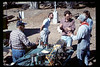Depot Day steam display (Ernie Thomsen, Jim Higman, Bill and Gisele McKeag), 10/1990. acc2005.001.1387