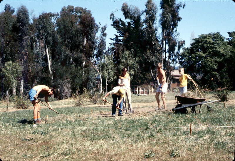 Eagle Scout project creates first picnic area on grounds, 1984. acc2005.001.0450