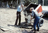 Pouring the slab for the wig-wag signal (Gene Allen and Al Volkman), 5/1989. acc2005.001.1156