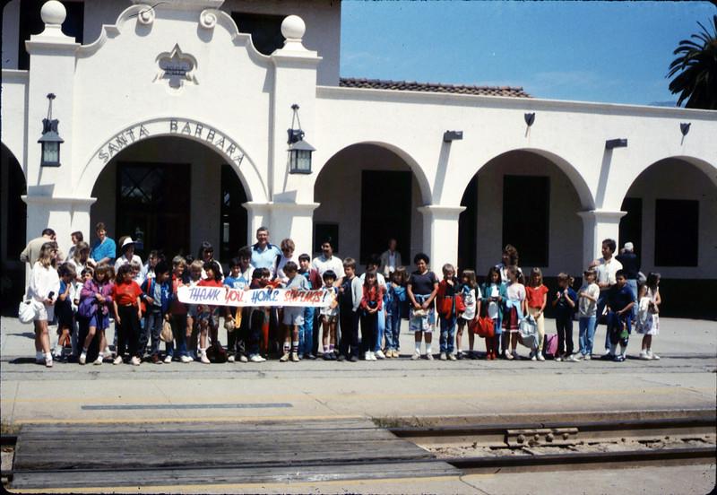 La Patera Elementary School rail trip to San Luis Obispo, 4/23/1987. acc2005.001.0778