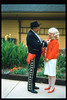 The traditional Santa Barbara Old Spanish Days Committee photograph was taken at Goleta Depot. The photo was published in the Santa Barbara News-Press on Aug. 1, 1993 (El Presidente Jim McCoy and Phyllis Olsen). acc2005.001.1832