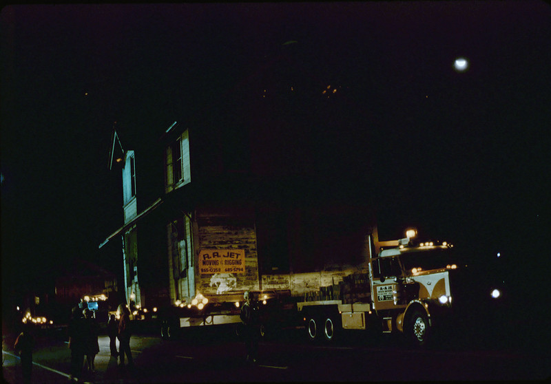 Night move, 11/19/1981. Michael Glassow photograph. Calle Real. acc2005.001.0091M