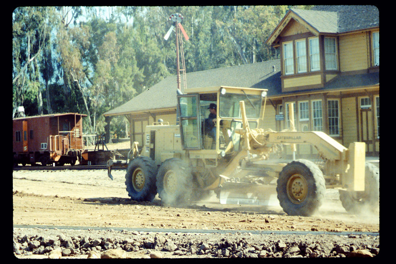 Banner Construction grades for miniature-train shed, 5/1990. acc2005.001.1336