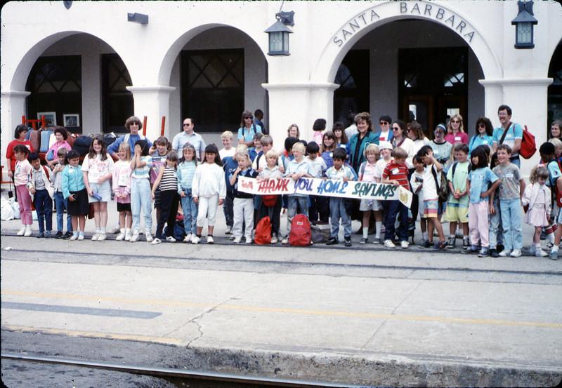 San Luis Obispo school rail trip, 5/3/1989. acc2005.001.1132