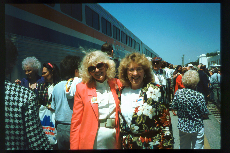 Museum Director Gary Coombs and Assistant Director Phyllis Olsen rode the inaugural cross-country Sunset Limited train, Los Angeles-to-Miami and return, as guests of Amtrak, March 28-April 6, 1993. acc2005.001.1765