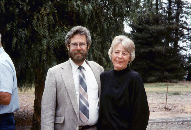 Memorial and tree-dedication honoring late museum benefactor Earl Hill (Gary Coombs and Nancy Ried), 8/8/1992. acc2005.001.1657