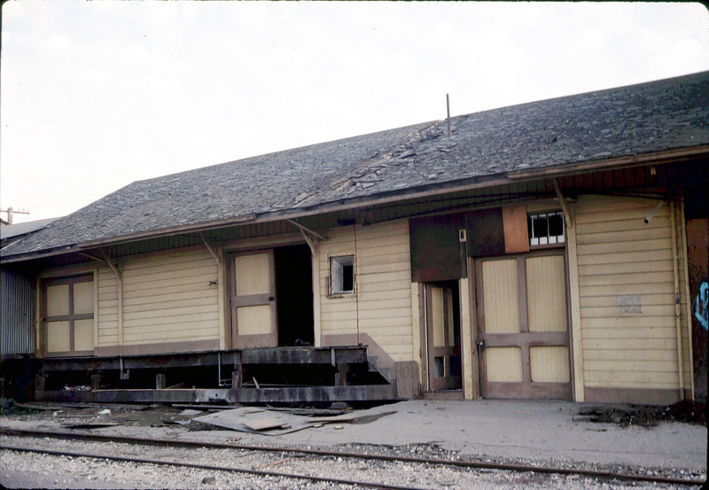 Depot cut in two today, 11/9/1981. acc2005.001.0013
