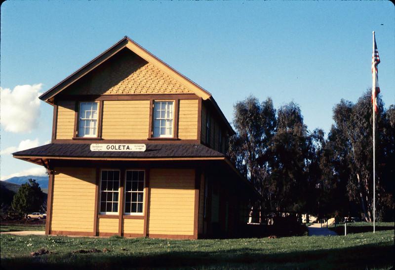 South end of Goleta Depot exterior, 1/1985. acc2005.001.0457
