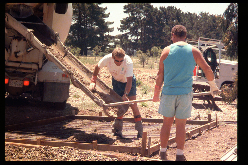 The Goleta Lions Club commissioned the construction of an 11x14-foot pad near the flagpole, to be used for the preparation and sale of food during special events, or for other museum activities, 1994. acc2005.001.1948