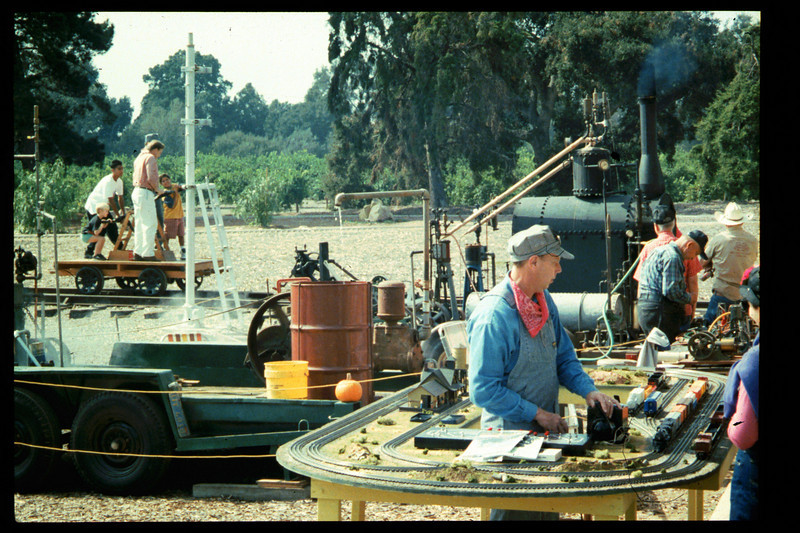 The 10th Annual Depot Day event (handcar ride) was held on Sunday, Oct. 10, 1992.  acc2005.001.1680