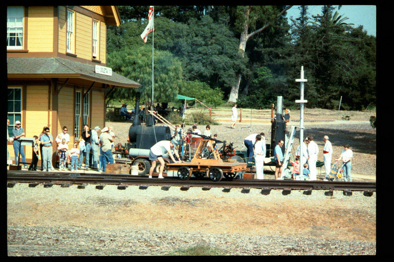 The 10th Annual Depot Day event (handcar rides) was held on Sunday, Oct. 10, 1992. acc2005.001.1689