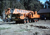 Specialty Crane & Rigging equipment will reassemble Caboose 4023 on the museum tracks, 9/25/1986 acc2005.001.0630