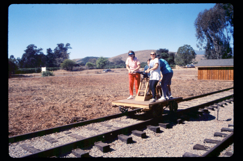 Depot Day handcar rides, 10/1990. acc2005.001.1404