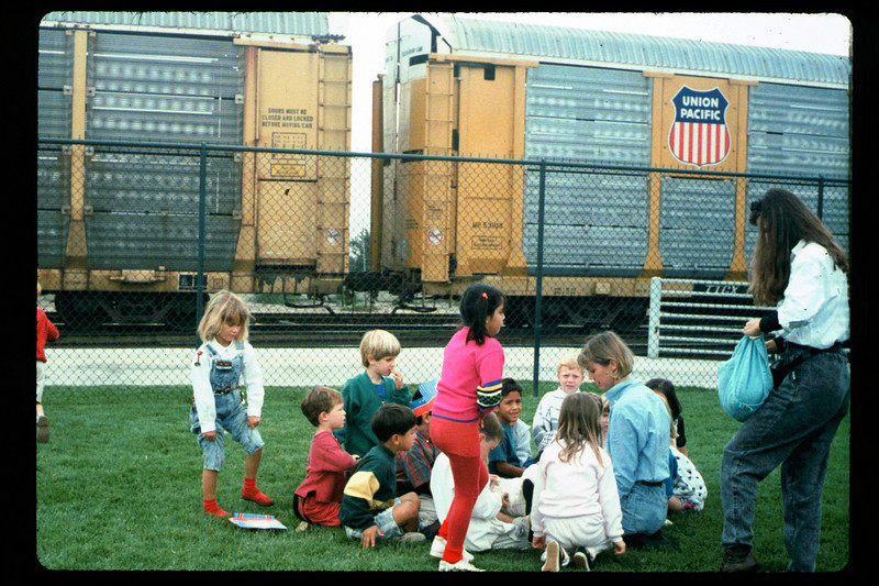 In Spring 1992, the museum led four school rail excursions. See Depot Dispatch, Vol. 12, No. 2 (Summer 1992) for details. 1992. acc2005.001.1636