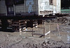 Rain water accumulates under depot, 11/28/1981. acc2005.001.0121