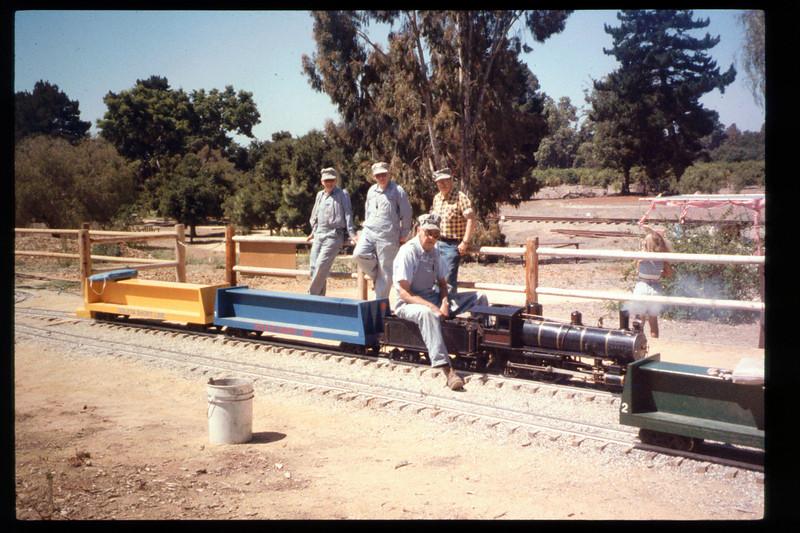 First day of Steaming Summer 1994 (June 25). Other 1994 Steaming Summer dates were July 23 and Aug. 27. (Gene Allen, Ed Winnewisser, Randy Fallgatter, Jack Cogan.) acc2005.001.1959