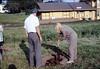 Arbor Day tree planting (Phyllis Olsen), 3/1986. acc2005.001.0554