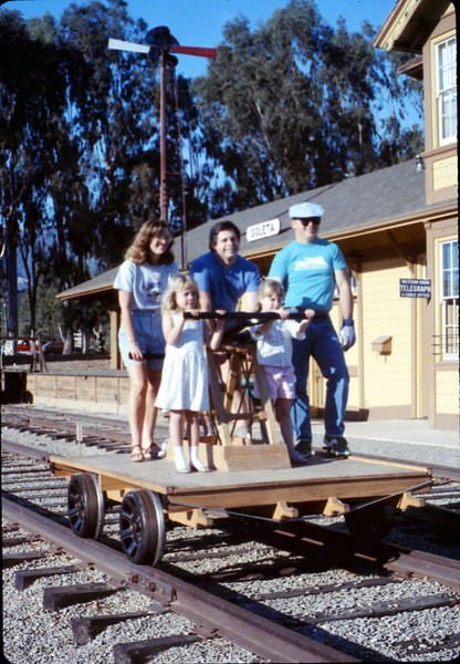Handcar rides at museum begin, 11/1989. acc2005.001.1229