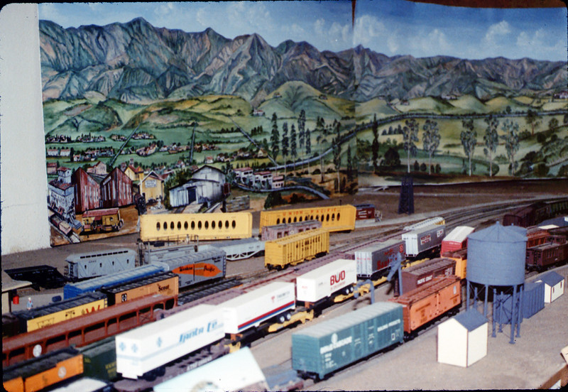 Santa Barbara Yard area of Model-Railroad Exhibit, 4/1988. acc2005.001.0935