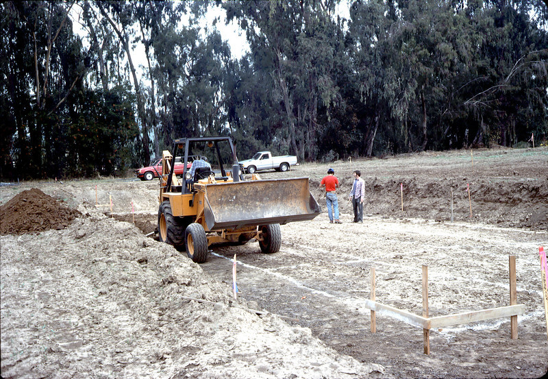 Digging trench for first footing.. acc2005.001.0007