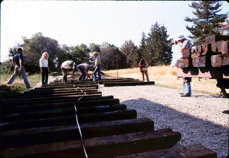 Laying of the standard-gauge track, 5/11/1985. acc2005.001.0501