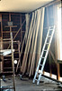 Removing paneling in Waiting Room to add shear wall, 6/1982. acc2005.001.0222