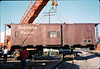 Specialty Crane & Rigging raises the caboose body off of its trucks, 9/25/1986 acc2005.001.0616