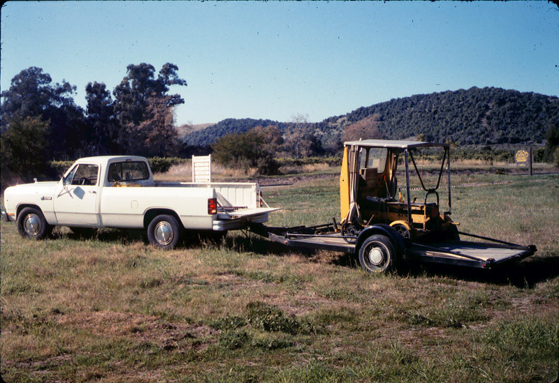 """Warren Johnson donated this inspection car (""""speeder"""") to the museum, 1/17/1987 acc2005.001.0668"""