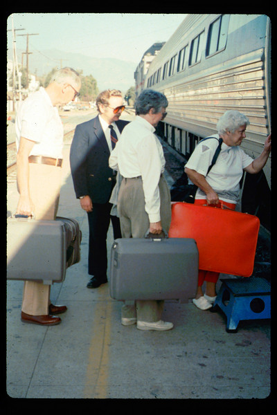 Gene and Alma Allen on a personal trip via Amtrak to Washington, D.C., 10/1990. acc2005.001.1445