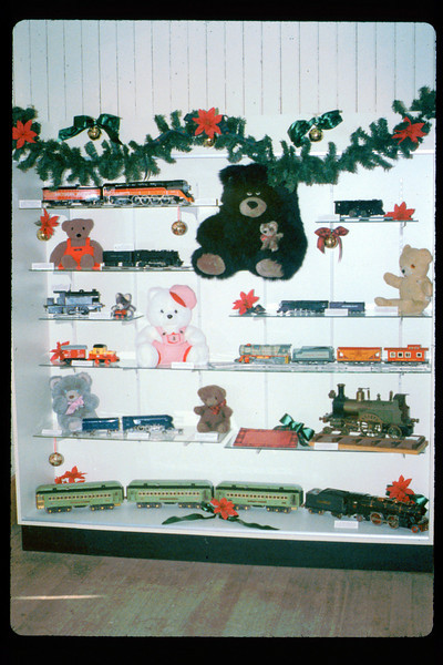 Toy Trains & Teddy Bears holiday display, 1991. acc2005.001.1588